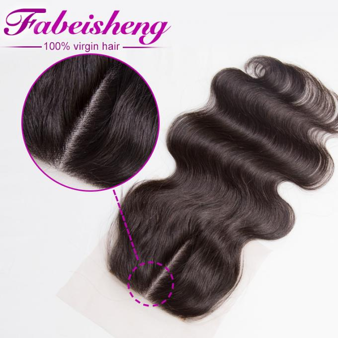 Brazilian Virgin Hair 4x4 Lace Closure Body Wave For Young Girls 0