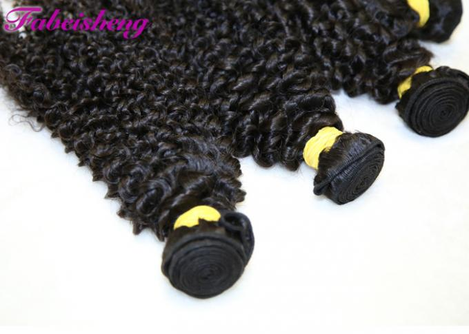 Natural Color Brazilian Yaki 8A Virgin Hair Curly Deep Wave For Black Woman 1