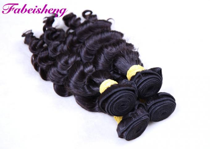 "Black Long Brazilian Curly 8A Virgin Hair Weave Can Be Restyled 8"" - 40"" 1"
