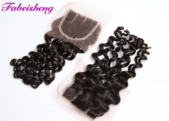 Brazilian Curly Weave 4x4 Lace Closure 8 - 30 Inch Hair Extensions 1