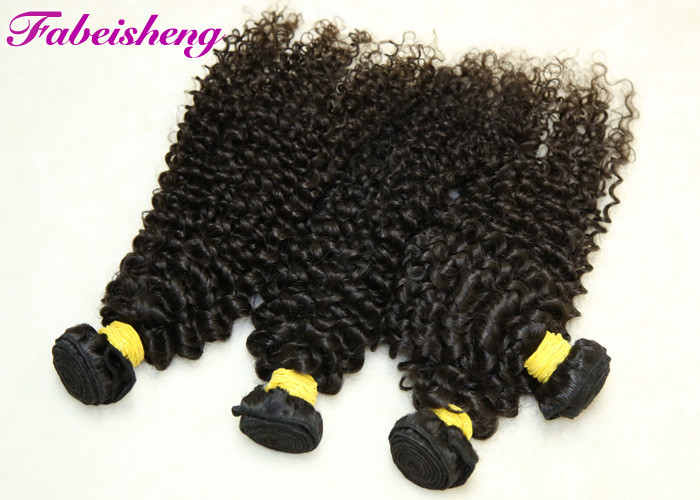 Natural Color Brazilian Yaki 8A Virgin Hair Curly Deep Wave For Black Woman