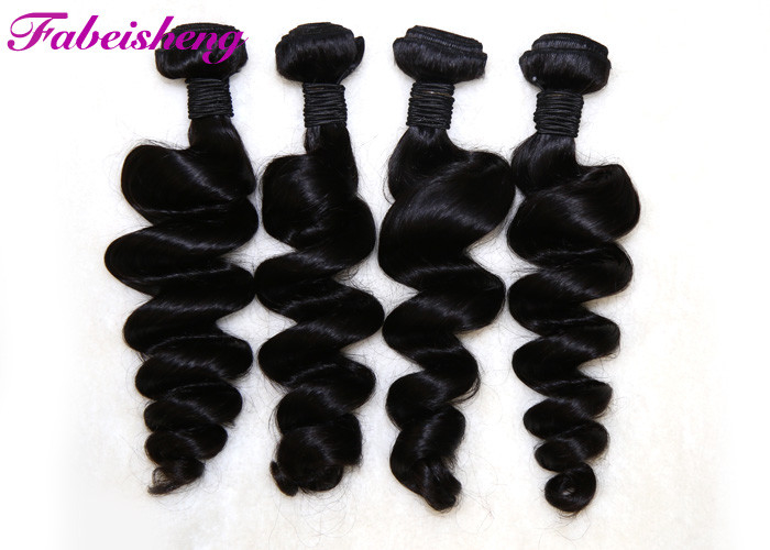Full Cuticle Black 7a Virgin Hair Extensions Tangle Free No Damage