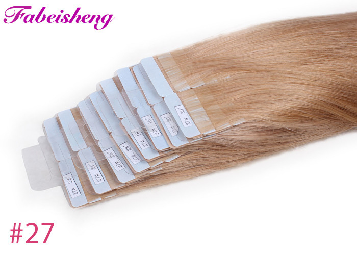 100 Unprocessed Raw Wavy Tape In Hair Extensions Double Sewed Weft