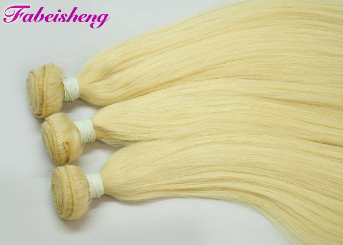 Grade 8a Virgin Hair Platinum Blonde Human Hair Extension Platinum