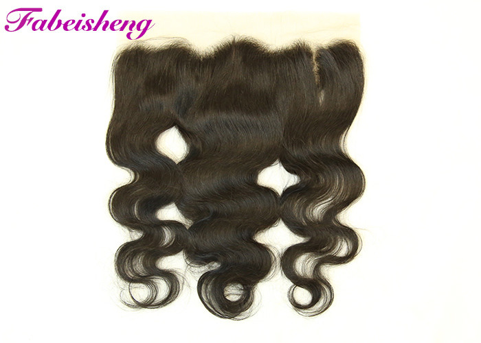 Medium Parts Lace Frontal Closure 13x4 Unprocessed Natural Black Virgin Human Hair For Women