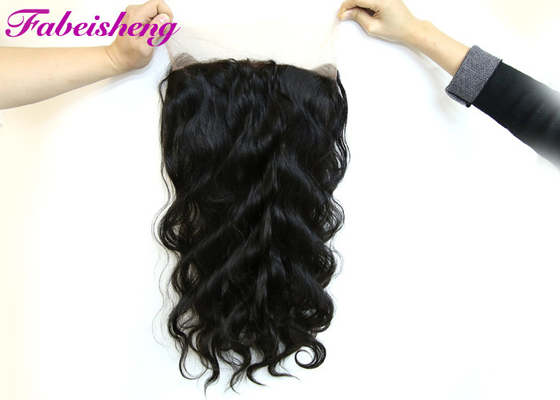 Natural Color 360 Lace Frontal Closures Virgin Brazilian Curly Hair
