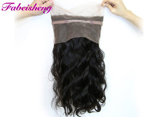 China Natural Color 360 Lace Frontal Closures Virgin Brazilian Curly Hair factory