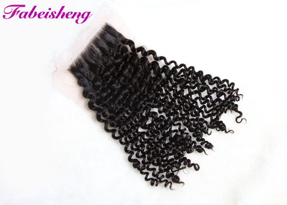 China Human Free Part Lace Closure Peruvian Curly Hair Bundles 100% Unprocessed factory