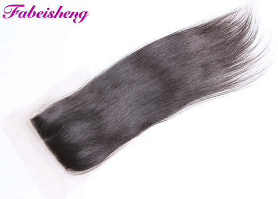 Tangle Free Brazilian Hair Closure With Natural Part Natural Brown Grade 8A