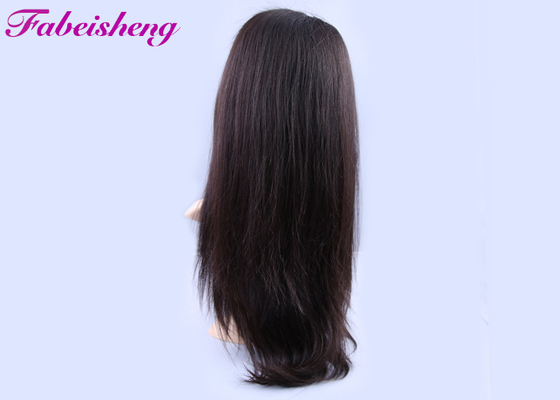 China 7A - 10A Grade Bleached Knot Full Lace Wigs 100% No Chemical factory