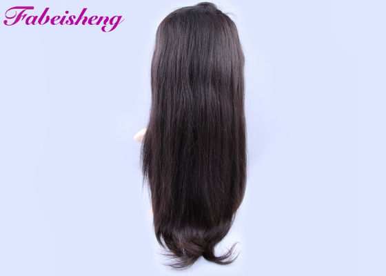 China Natural Hairline Bleached Knots Glueless Full Lace Wigs / 100% Indian Human Hair Wigs factory