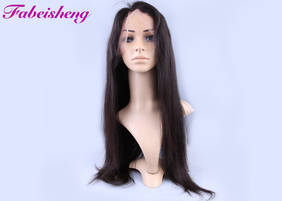China 150g Natural Straight Full Lace Human Hair Wigs For Black Women factory