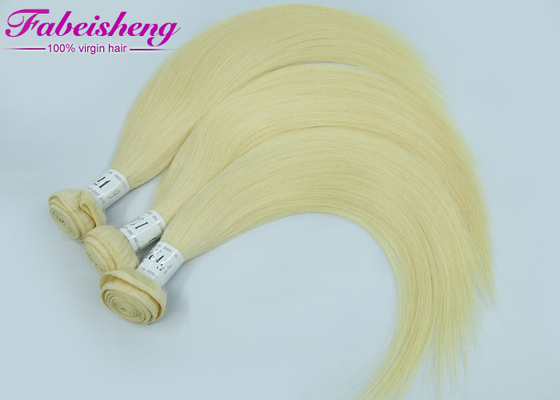 "China Thick 8a 9a 10a Coloured Human Hair Extensions / European Blonde Hair Bundle 12"" - 32"" factory"