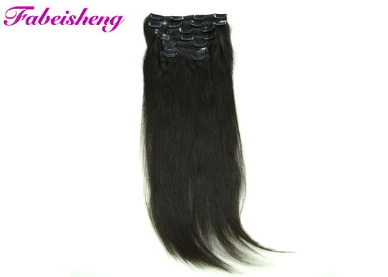 Unprocessed Straight Remy Clip In Hair Extensions Human Hair For Black Women
