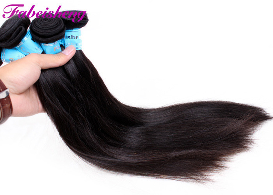 Natural Black 1b Real Virgin Brazilian Hair / Straight 100% Human Brazilian Hair Bundles