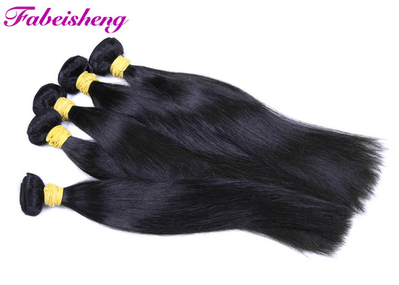 Double Wefted Virgin Hair Extensions Human Hair No Chemical 9A Grade