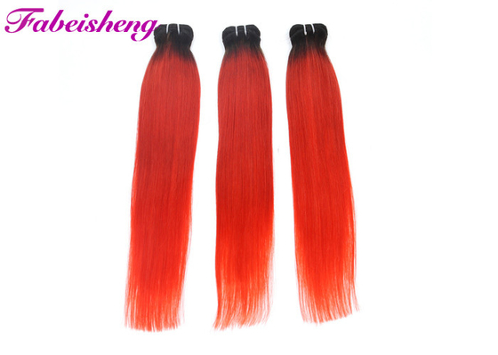 Thick Bottom Red Colored Hair Extensions 18'' 20'' 22'' / Brazilian Human Hair Bundles