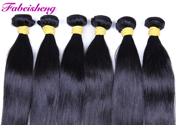 100% Straight Human Hair Bundles / Natural Cuticle Aligned Hair Weave