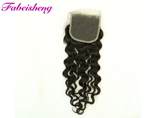 China None Chemical 4*4 Lace Closure Italian Body Wave Hair Can Be Dyed , Ironed factory