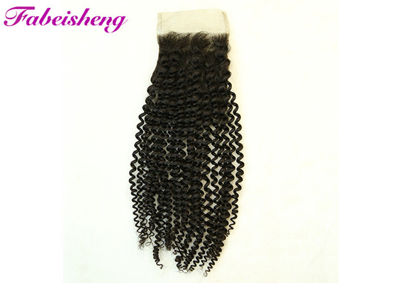 China Curly Soft Smooth Brazilian Deep Wave Hair With Closure 4*4  Thick Bottom factory