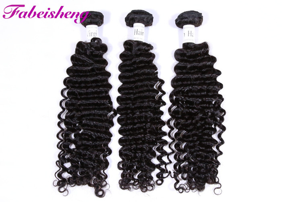 Virgin Peruvian Deep Wave Hair Extensions No Smell No Synthetic