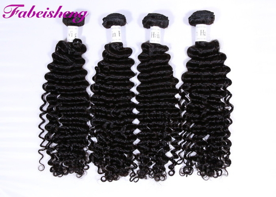 China Aligned Cuticle Brazilian Deep Wave Hair Extensions Natural Color ​BV SGS factory