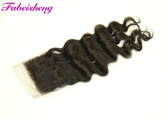 Black Loose Wave Brazilian 4x4 Lace Front Closure