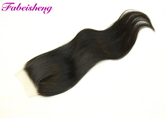 "Quality Straight Human Hair 4x4 Lace Closure 8""~20"" Natural Color For Sale."